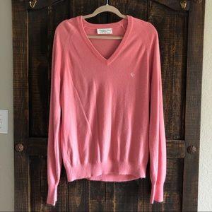Vintage Christian Dior V Neck Pink Sweater L